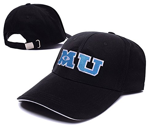 Monsters University Hat (RHXING M U Monsters University Logo Adjustable Baseball Caps Unisex Snapback Embroidery Hats)