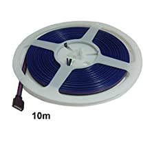 RGB Cable Wire 10 m/reel, 5 reels/lot, 22 AWG Wire, with 4 Pin Female Header Connector at One End, for RGB LED Strip