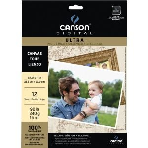 Canson C100516311 8 .5 in. x 11 in. Ultra Range Inkjet Papers Canvas - 1/2