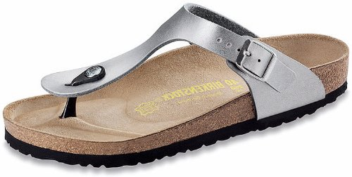 Birkenstock Clog Sandal - Birkenstock Women's GIzeh Thong Sandal, Silver, 39 M EU/8-8.5 B(M) US
