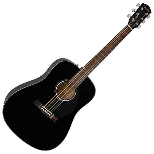 - Fender Classic Design CD-60S Dreadnought Acoustic Guitar (Black)