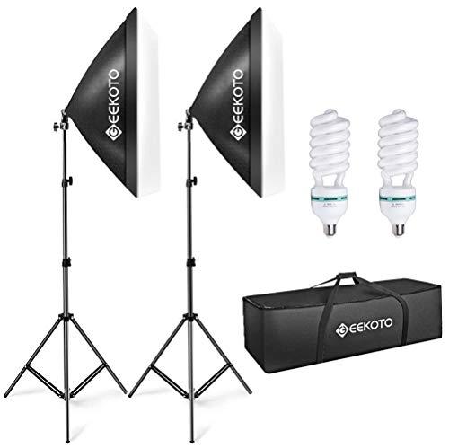 - GEEKOTO Softbox Lighting,Video Softbox,Photo Softbox,Studio Lights 20