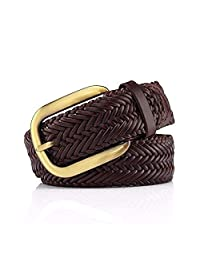Dertring Braided Belt, Leather Paper Simple Universal Decorative Belt (Color : B, Size : M)