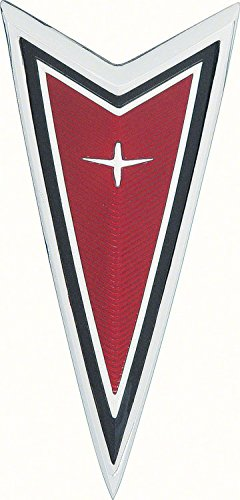 OER 499724 1977-1981 Pontiac Firebird Red Front End Crest Arrowhead Emblem