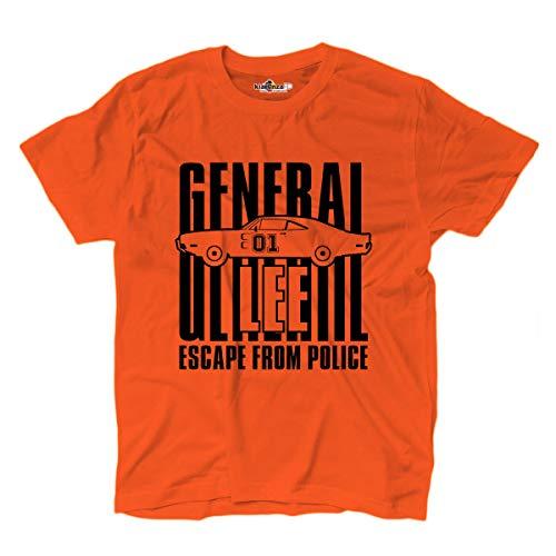 Lee Maglietta Serie The T Hazzard Generale General Macchina Orange Of shirt Kiarenzafd Dukes 2 Tv TUa1d8an