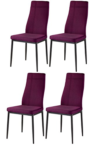 Kings Brand Furniture Dining Room Kitchen Side Chairs (Set of 4, Purple)