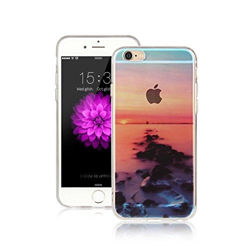 Für Apple iPhone 6 / iPhone 6S (4.7 Zoll) Hülle ZeWoo® TPU Schutzhülle Silikon Tasche Case Cover - AK018 / Straße des Meeres
