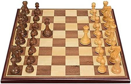 ZOUJUN Juego de ajedrez magnético, Ajedrez Mano Hecha a Mano de Madera de Cerezo Ajedrez y Damas Juego de 44 x 44 centímetro for Adultos y niños: Amazon.es: Hogar