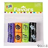 Fun Express 4 Dozen (48) Mini Halloween Magic Springs; Perfect for Trick or Treat; Classroom Giveaways; Party Favors;