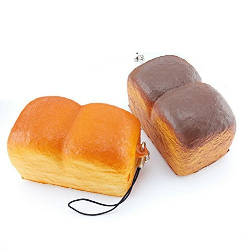 Smilucky 1 Piece Yummy Kawaii Squishy Loaf Cell Phone Charm Soft Scrent Bread Strap