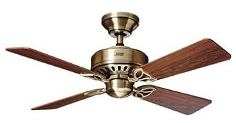 Hunter 20400 The Bayport 42-Inch Four-Rosewood Medium Oak-Blades-Ceiling Fan, Antique Brass
