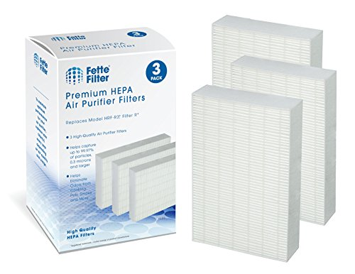 3-Pack - Fette Filter Air Purifier Filters. Compatible with HRF-R2, HRF-R3, Filter R (HRF-R3, 3-Pack)