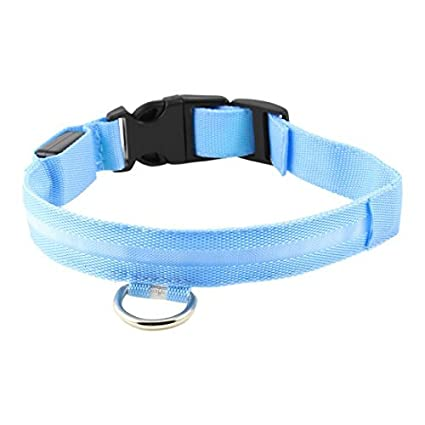 eDealMax Ajustable llevó el Collar de perro de mascota perrito Luz la seguridad del gato,