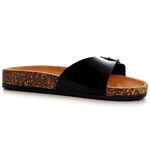 topschuhe24 Noir Sandalettes Sandales Femmes Femmes topschuhe24 0dqqX