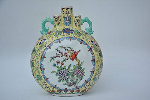 NAHASU | Bottles, Jars & Boxes | Rare Old QingDynasty Porcelain vase,Flower&Bird,with Mark,Hand Painted Decoration/Collection/Crafts