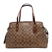 Coach Women's Hand shoulder bag F57842 Khaki /Brown