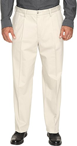 Twill Pants Tailored Front Pleat (Dockers Men's Men's Big & Tall Signature Stretch Pleat Cloud Pants)