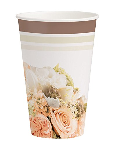 Creative Converting 318160 8 Count Hot/Cold Cups, 12 oz, Rose Gold (Garden Bouquet Cup)