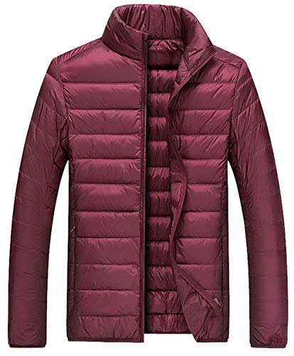 Dunkelrot Coat Down Long Coat Warm fashion HX Down Down Solid Outdoor Comfortable Jacket Sizes Color Clothing Winter Men Ultralight gq4Uxw