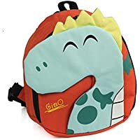 Toddler Dinosaur Backpack for Kids with Leash | Dino Baby Bag |Boys or Girls | Bookbag | Lunch Bag | Safety Harness |