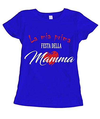 Tshirt Festa della Mamma La mia prima festa della Mamma - humor - happy mother's day - idea regalo - in cotone Blu