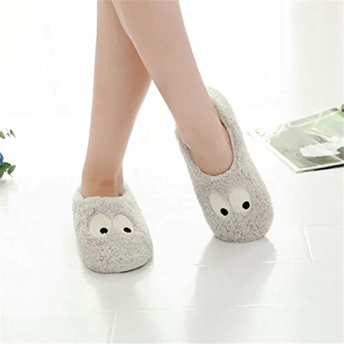 Home Shoes Warm slip Womens Eyes Ladies Mules Plush Fleece Soft Slippers Slip Girls Cozy Indoor Booties Non on Cartoon Winter Bedroom Big Cute Ankle Boots qC5aCwRO