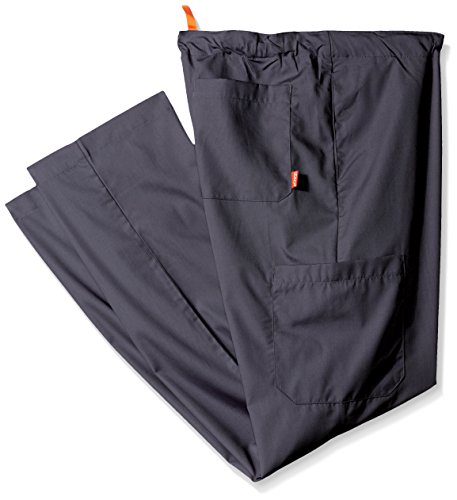 Orange Standard Mens Big And Tall Huntington Unisex Scrub Pants With Drawstring Waist And 4 Pockets  Charcoal  2X