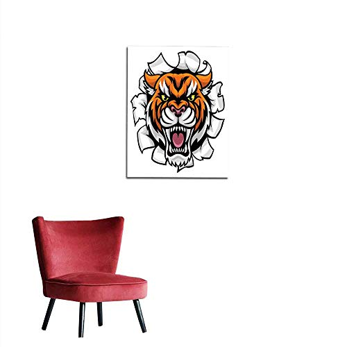 longbuyer Home Decor Wall Angry Tiger Background Breakthrough Mural 20