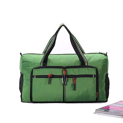 Packable Travel Sports Duffle Bag Waterproof Foldable Luggage Bag Lightweight Large Capacity Gym Bag for Men and Women(GREEN)