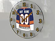 NHL National Hockey League - Eastern Conference - Metropolitan Division Jersey Wall Clocks - Free Customizatio