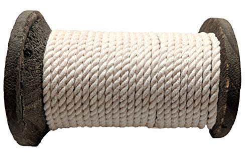Ravenox Colorful Twisted Cotton Rope   (White)(1 Inch x 250 Feet)   Made in The USA   Custom Color Cordage for Sports, Décor, Pet Toys, Crafts, Macramé & General Use   Rope by The Foot & Diameter by Ravenox (Image #4)