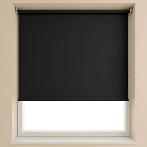 SPEEDY 120 cm Blackout Roller Blind 190 cm Drop, Black