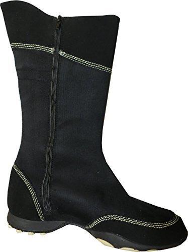 Stiefel aus Veloursleder von Early Schwarz