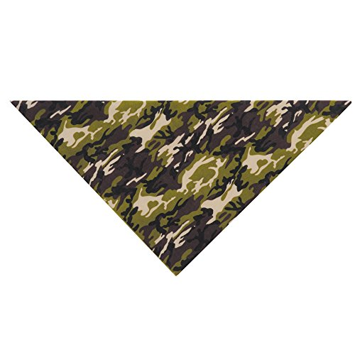 Picture of Aria Camouflage Dog Bandana, Green Camo