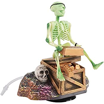 Saim Pirate Skeletons & Gold Treasures Live Action Aquarium Ornaments