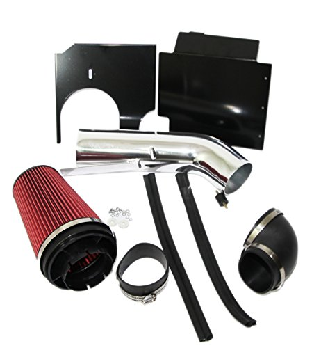 (RED Cold Air Intake Kit+Heat Shield for 99-06 Chevy Silverado)