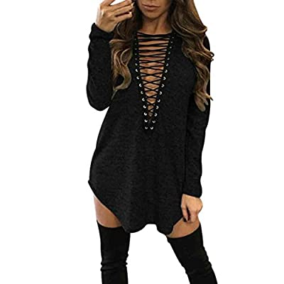 TOOPOOT Women's Bandage Blouse Tops Cocktail Club Party Casual Dress