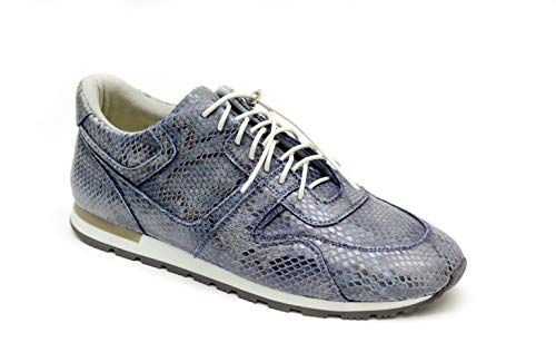 Natural Python Footwear - Roko Snake Sneakers Python Hand Made Running Shoes Fashion Men Athletic Casual Sneakers Outdoor Running Breathable Sports Shoes Size US (US/ 8)