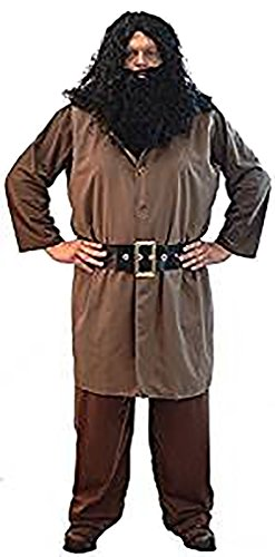 CL COSTUMES Fancy Dress-World Book Day-Halloween-Magic-Wizard School Men's Hagrid Giant with Wig & Beard - From Sizes S-4XL (Hagrid Costume For Adults Uk)
