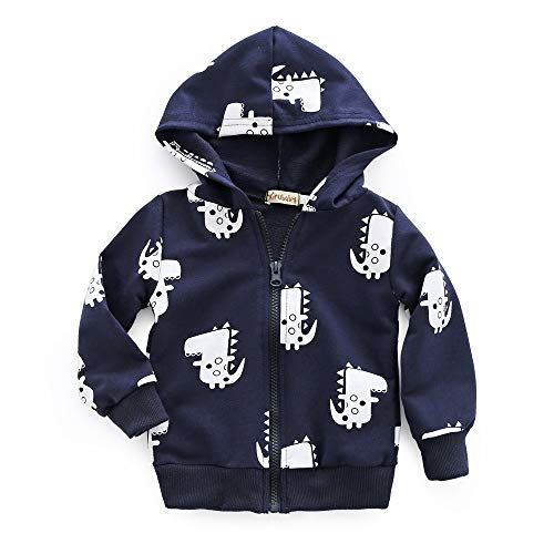 Boys Casual Tops Outwear Warm Comfortable Anglewolf Overcoat Infant Dinosaur Toddler Coat Hooded Baby Girls Winter Sweatshirt Navy Fashion Zipper Outfits Cartoon Kids Costume Autumn Clothes TztxwnqzH