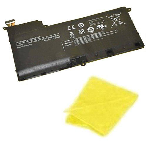 amsahr Replacement Battery for Samsung AA-PBYN8AB, NP530U4B, 530U4B-A01UK, 530U4B-A02US, 530U4B-A03, 530U4B-S01, 530U4B-S01AU, 530U4B-S01FR (6120 mAh) - Includes Cleaning Cloth
