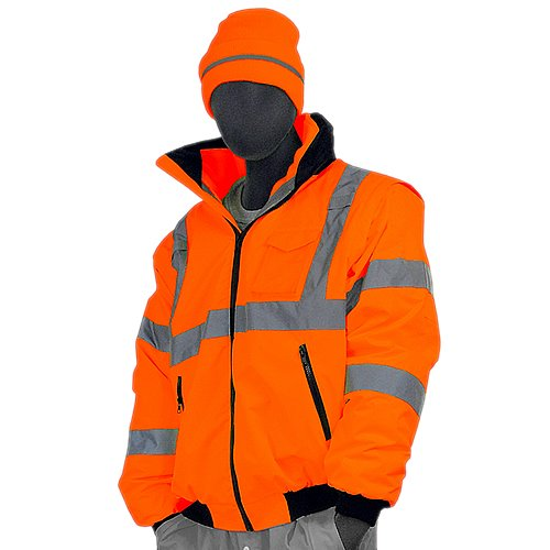 Majestic Glove 75-1382/X1 Bomber Jacket, 8 in 1, High-Vis, Class 3, X-Large, Orange