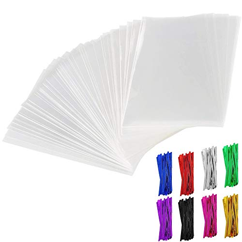 200Pcs Cellophane Treat Bags 3x4 inch Clear Lollipop Cake Pop Bag Thickness Resealable OPP Plastic Bags with 200 4