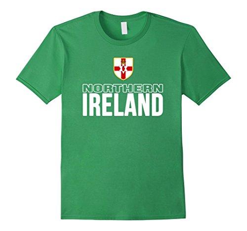 Men's Northern Ireland T-shirt Norn Iron Flag Tee Soccer Football 3XL Grass