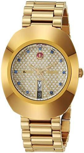 Rado DiaStar Original Swiss Automatic Watch with Stainless Steel Strap, Gold, 21 (Model: R12413314)