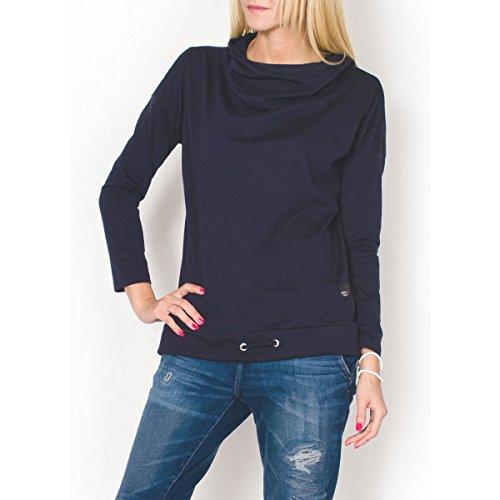 Fashion Mujer Jersey Sudadera manga larga con capucha sudadera con capucha, otros colores Azul