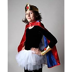 - 41839RZ9tqL - Making Believe Girls Gold Wonderful Superhero Costume Cuffs and Headband Set