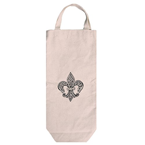 Canvas Wine Bag Tote With Handles Fleur De Lis Lace Pin By Style In Print ()