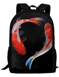 Koi Fish Interest Print Custom Unique Casual Backpack School Bag Travel Daypack Gift
