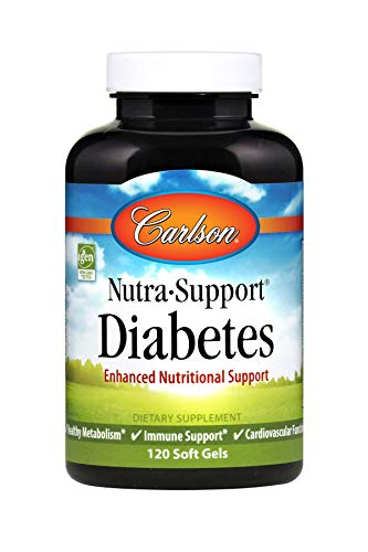Carlson - Nutra-Support Diabetes, Enhanced Nutritional Support, Supports Special Dietary Needs, 60 Soft ()